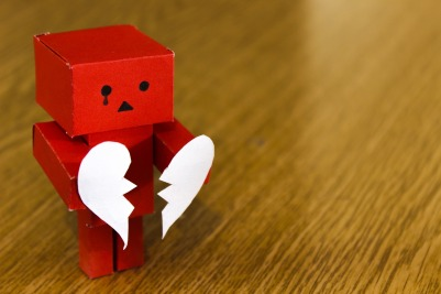 cardboard man broken heart